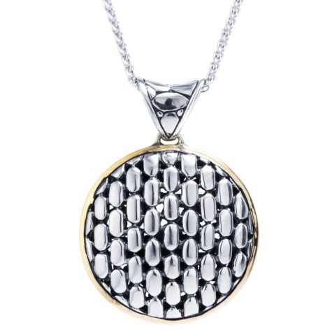 Sterling Silver Round Bali Style Pendant