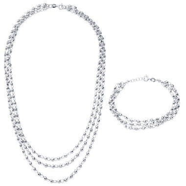 Sterling Silver Necklace and Bracelet Set