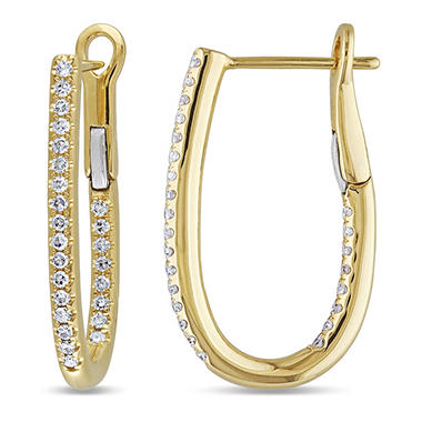 0.25 CT. T.W. Diamond Cuff Earrings in 14K Gold