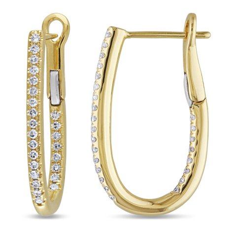 0.25 CT. T.W. Diamond Cuff Earrings in 14K Gold