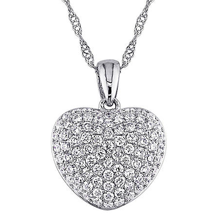 0.51 CT. Diamond Heart Pendant in 14K Gold