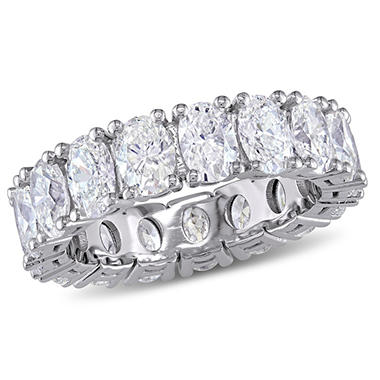 Allura 4.27 CT Oval-Cut Diamond Eternity Ring in 18k White Gold