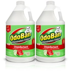 OdoBan Odor Eliminator and Disinfectant Concentrate, Cucumber Melon Scent (128 oz., 2 ct.)