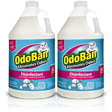 OdoBan Odor Eliminator and Disinfectant Concentrate, Cotton Breeze Scent (128 oz., 2 ct.)