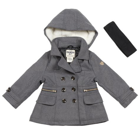 OshKosh Girls' Faux Wool Jacket