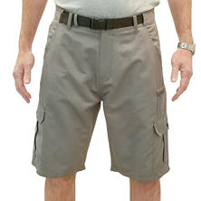 "IRON Clothing Men's ""Abrams"" Belted Stacked Pocket Hybrid Cargo Short"