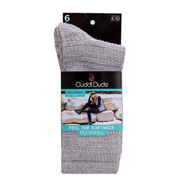 cuddl duds super soft 6pack sock