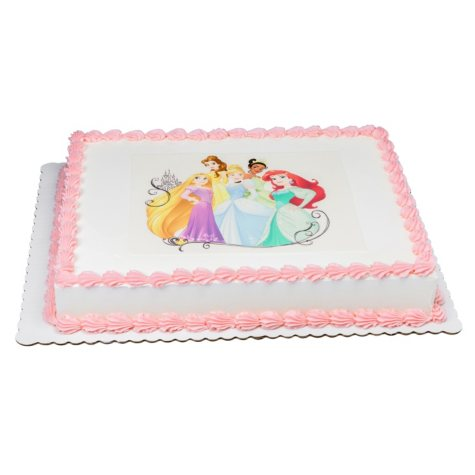 Member's Mark 1/2 Sheet Disney Princess Cake