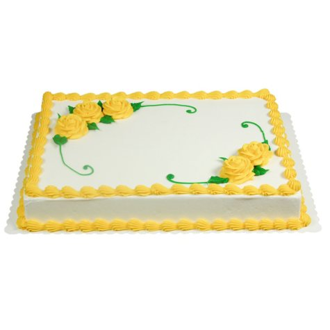 Member's Mark 1/2 Sheet Yellow Rose Celebration Cake