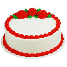 "Member's Mark 10"" Red Rose Round Cake"