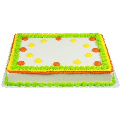 Member's Mark 1/2 Sheet Bright Ruffle and Polka Dot Cake