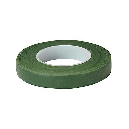 "Floratape Stem Wrap, 1/2"" Green - 90 Feet Per Roll (choose 12 or 288 rolls)"
