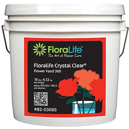 FloraLife Crystal Clear Fresh Cut Flower Food 300, Powder (Choose 10, 20 or 30 lb. Pail)