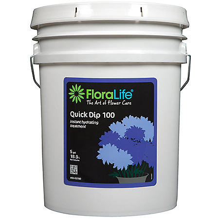 FloraLife Quick Dip 100, Instant Hydrating Fresh Flower Treatment (5 Gallon Pail)