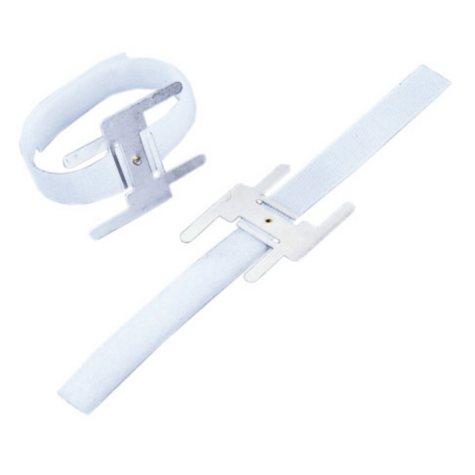 Lomey Velcro Wristlet, White - 24 per box (Choose 1 or 12 boxes)