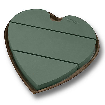 Oasis Mache Solid Heart, 18 Inch (Choose quantity)