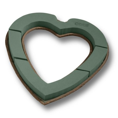 Oasis Mache Open Heart, 24 Inch (Choose 1 or 4 count)