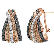 1.96 CT. T.W. Diamond Fashion Earring in 14K Rose Gold
