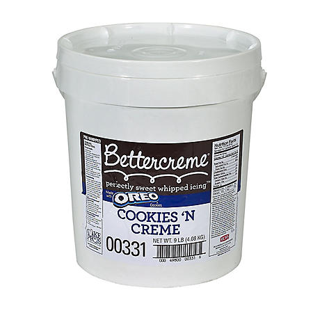 Case Sale: Bettercreme Cookies 'n Creme Pre-Whipped Icing (9 lbs.)