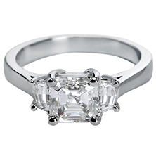 Premier Diamond Collection 2.09 CT. T.W. Asscher Cut Diamond Ring with Cadillac Shape Sides in Platinum - GIA & IGI (G, SI1)