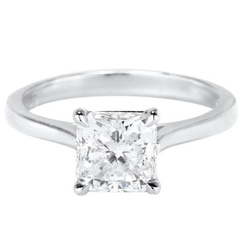 Premier Diamond Collection 2.02 CT. Radiant Diamond Solitaire Ring in Platinum - GIA-IGI (F, VS1)