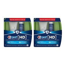 Crest Pro-Health HD Daily Two-Step Toothpaste System Bundle (Two 4 oz. tubes,  two 2.3 oz. tubes)
