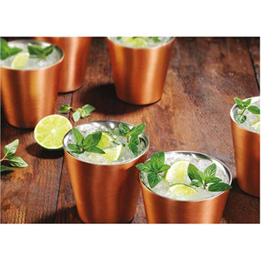 Member's Mark 14 oz. Double-Wall Shorty Mule Mug, Set of 6 (Assorted Colors)