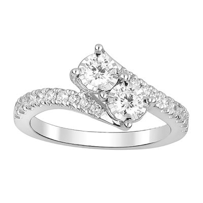 075 CT TW Eternally Us Diamond Engagement Ring in 14k Gold