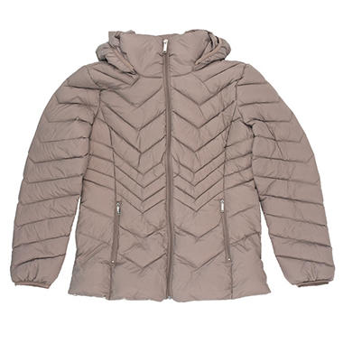 London fog women's packable down jacket with hood