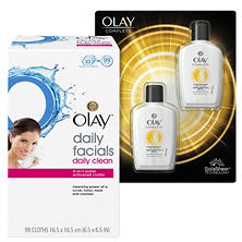 Olay Facial Cloths & All Day Moisturizer Bundle