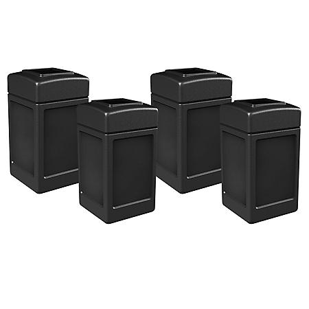 Commercial Zone Square Waste Container 3+1, Open Top Lid Bundle