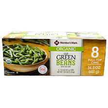 Member's Mark Organic Cut Green Beans (14.5 oz., 8 ct.)