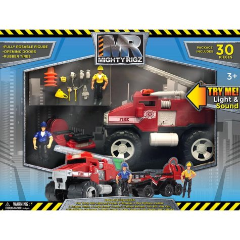 Mighty Rigz - 30-Piece Fire Truck Emergency Play Set