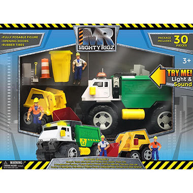 Mighty Rigz - 30-Piece Recycle Truck Play Set