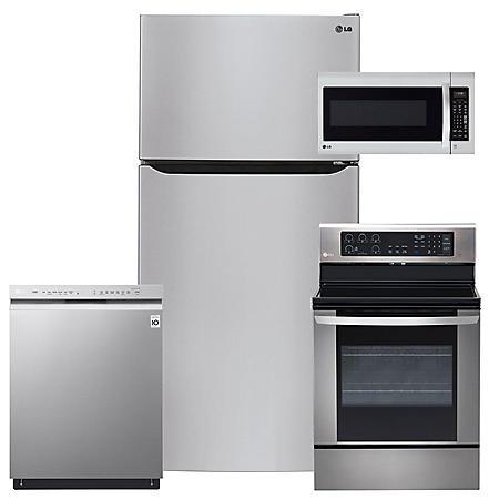 LG - LTCS24223S, LRE3061ST, LMV2031ST, LDF5545ST Stainless Steel Kitchen Suite