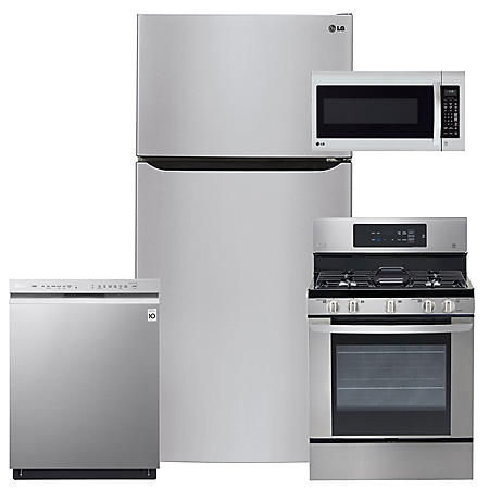 LG - LTCS24223S, LRG3061ST, LMV2031ST, LDF5545ST Stainless Steel Kitchen Suite (GAS)