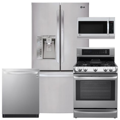 LG LFXS29766S, LRG4115ST, LMH2235ST, LDT5665ST Stainless Steel Kitchen Suite (GAS)