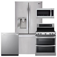 LG LFXS29766S, LDE4415ST, LMHM2237ST, LDT5665ST Stainless Steel Kitchen Suite