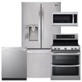 LG LFXS29766S, LDE4415ST, LMHM2237ST, LDT5665ST Stainless Steel Kitchen Suite