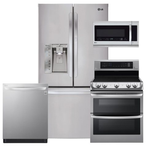 LG Stainless Steel Kitchen Suite - LFXS29766S, LDE4415ST, LMHM2237ST, LDT5665ST