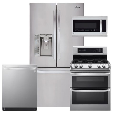 LG Stainless Steel Kitchen Suite (Gas) - LFXS29766S, LDG4313ST, LMHM2237ST, LDT5665ST