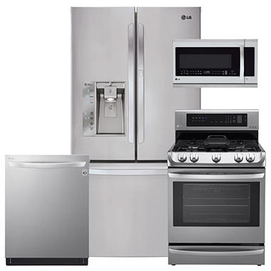LG LFXS29766S, LRG4115ST, LMHM2237ST, LDT5665ST Stainless Steel Kitchen Suite (GAS)