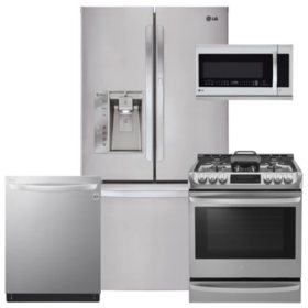 LG LFXS29766S, LSG4513ST, LMHM2237ST, LDT5665ST Stainless Steel Kitchen Suite (Gas)