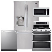 LG LFXS29766S, LDG4315ST, LMHM2237ST, LDT5665ST Stainless Steel Kitchen Suite (GAS)