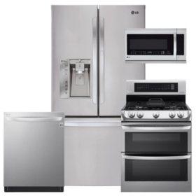 LG LFXS29766S, LDG4315ST, LMHM2237ST, LDT5665ST Stainless Steel Kitchen Suite (GAS)