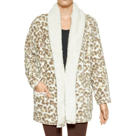 HUE Sherpa Collar Sleep Robe/Wrap