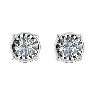 0.95 CT. T.W. Diamond Earring in 14K White Gold