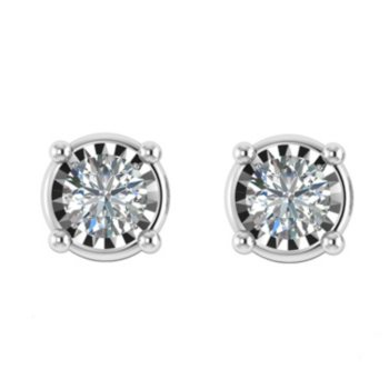 Classic 0.95 CT. T.W. Diamond Earring in 14K White Gold