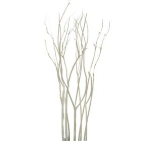Mitsumata Branches, White (12 bunches)