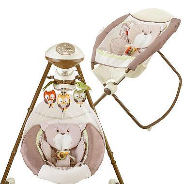 Fisher-Price My Little Snugabear Swing & Sleeper Bundle